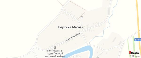 Улица Соловьевых на карте деревни Верхнего Магази с номерами домов