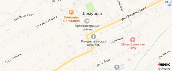 Улица Урукова на карте села Шемурши с номерами домов
