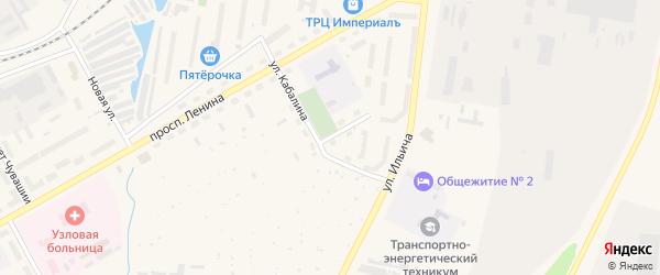 Улица Кабалина на карте Канаша с номерами домов