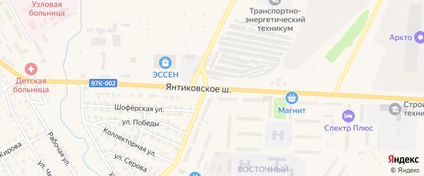 Янтиковское шоссе на карте Канаша с номерами домов
