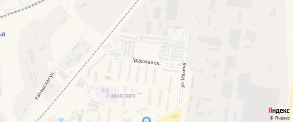 Трудовая улица на карте Канаша с номерами домов