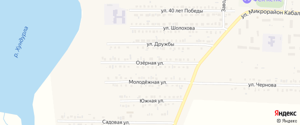 Озерная улица на карте Комсомольского села с номерами домов