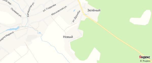 Карта Нового поселка в Чувашии с улицами и номерами домов