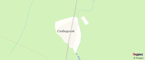 Карта поселка Лесной 14-го км в Архангельской области с улицами и номерами домов