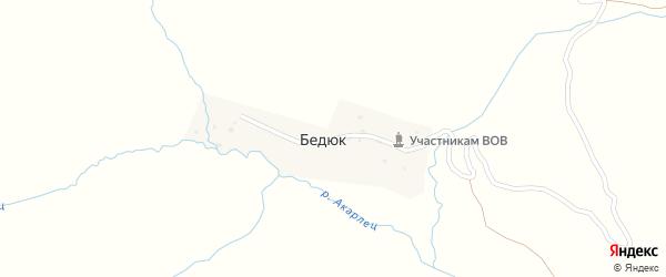 Бедюкская улица на карте села Бедюка с номерами домов