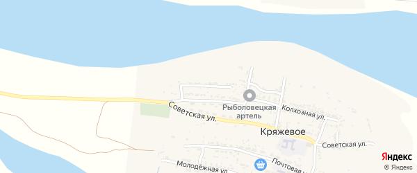 Набережная улица на карте Кряжевого села с номерами домов