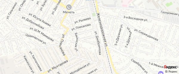 Дачная улица на карте Махачкалы с номерами домов