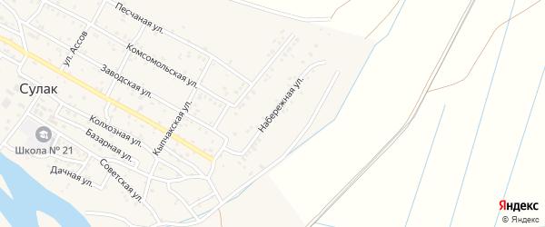 Набережная улица на карте поселка Сулака с номерами домов