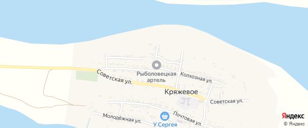 Улица Щорса на карте Кряжевого села с номерами домов