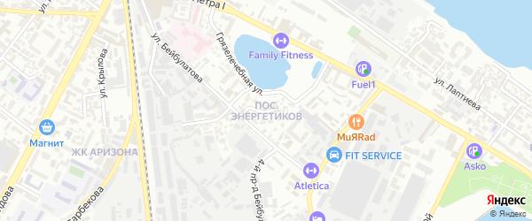 Поселок Энергетиков на карте Махачкалы с номерами домов