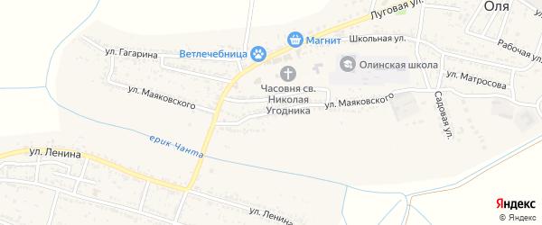 Улица Маяковского на карте Лесного села с номерами домов