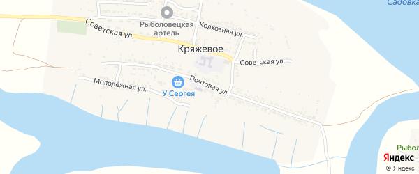 Почтовая улица на карте Кряжевого села с номерами домов
