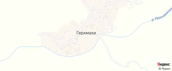 Административная улица на карте села Герхмахи с номерами домов