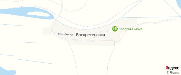 Карта села Воскресеновки в Астраханской области с улицами и номерами домов