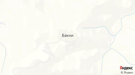 Карта села Бакни в Дагестане