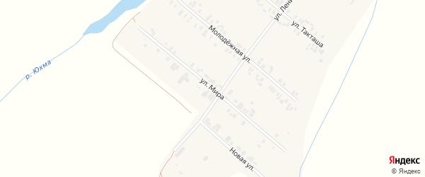 Улица Мира на карте села Шыгырдана с номерами домов