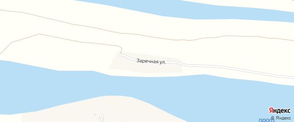 Заречная улица на карте Кряжевого села с номерами домов