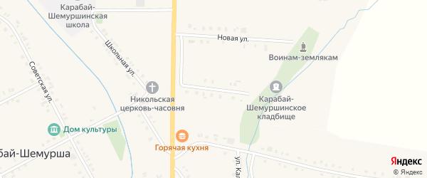 Молодежная улица на карте деревни Карабая-Шемурши с номерами домов