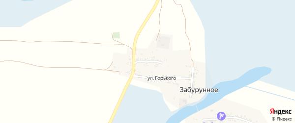 Школьная улица на карте Забурунного села с номерами домов