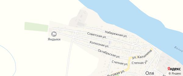 Улица Пушкина на карте села Оли с номерами домов