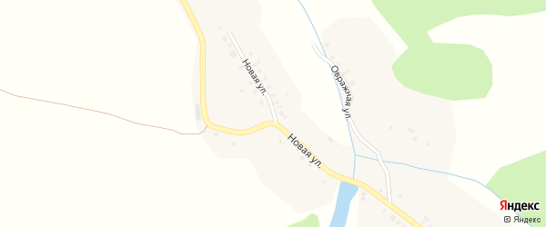 Новая улица на карте деревни Тюнзыры с номерами домов