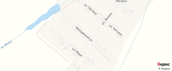 Молодежная улица на карте села Шыгырдана с номерами домов