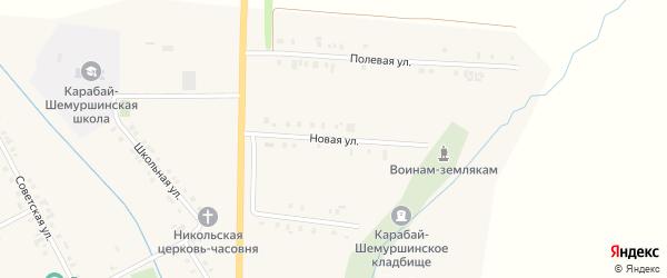 Новая улица на карте деревни Карабая-Шемурши с номерами домов
