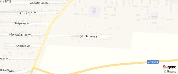 Улица Чернова на карте Комсомольского села с номерами домов