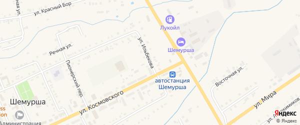 Улица Ильбекова на карте села Шемурши с номерами домов