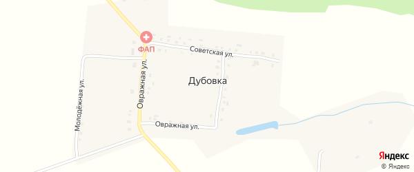 Комсомольская улица на карте деревни Дубовки с номерами домов