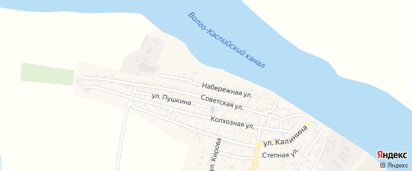 Набережная улица на карте села Оли с номерами домов