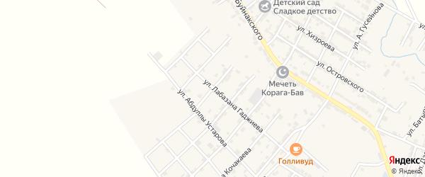 Улица Камильпаша Бахриева на карте микрорайона Мычыгышавул с номерами домов