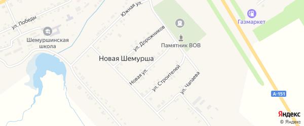Новая улица на карте села Шемурши с номерами домов