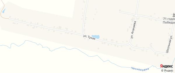 Тукая улица на карте деревни Долгого Острова с номерами домов