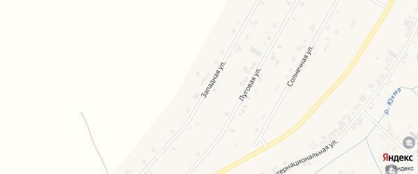 Западная улица на карте села Шыгырдана с номерами домов