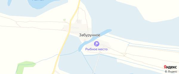 Карта Забурунного села в Астраханской области с улицами и номерами домов