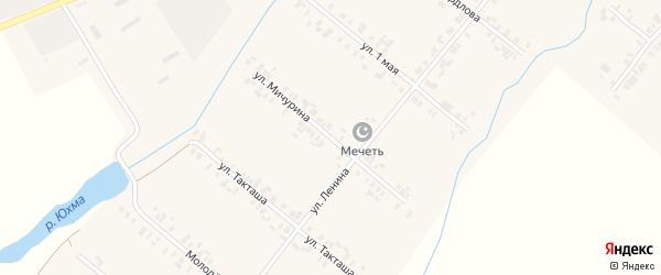 Улица Мичурина на карте села Шыгырдана с номерами домов