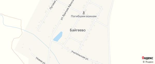 Средняя улица на карте деревни Байгеево с номерами домов