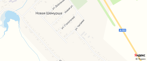 Улица Чапаева на карте села Шемурши с номерами домов