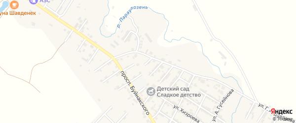 Улица Казавата Абуталимова на карте микрорайона Мычыгышавул с номерами домов