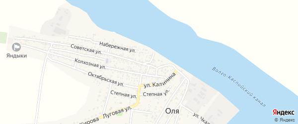 1 Мая улица на карте села Оли с номерами домов