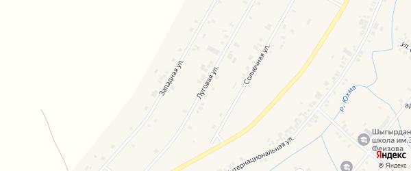 Луговая улица на карте села Шыгырдана с номерами домов
