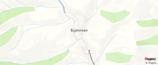 Карта села Буркихана в Дагестане с улицами и номерами домов
