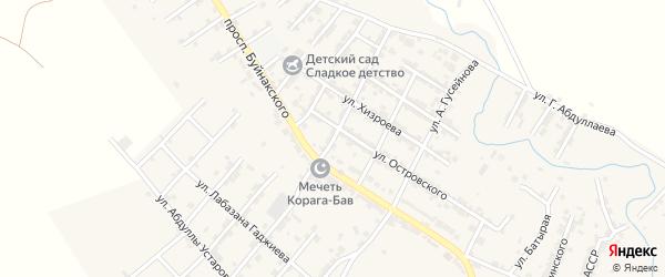 Улица Фрунзе на карте села Карабудахкента с номерами домов