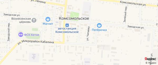 Советская улица на карте Комсомольского села с номерами домов