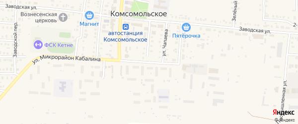 Микрорайон К.Антонова на карте Комсомольского села с номерами домов