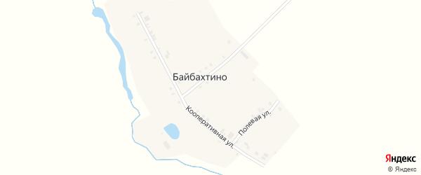 Кооперативная улица на карте деревни Байбахтино с номерами домов