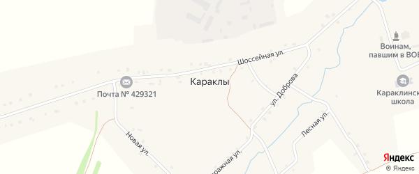 Овражная улица на карте деревни Караклы с номерами домов
