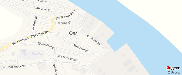 Улица Чкалова на карте села Оли с номерами домов