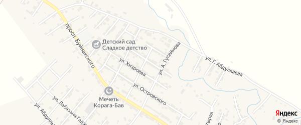 Улица Джанибекова на карте села Карабудахкента с номерами домов